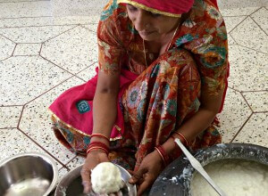 Woman with milk 2